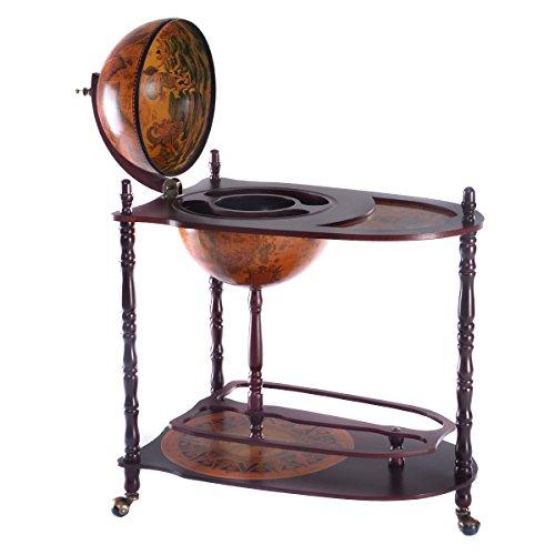 globusbar minibar weltkugel weinregal flaschenregal holzregal. Black Bedroom Furniture Sets. Home Design Ideas